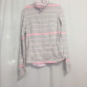 Lululemon Zip Up Stripe Jacket