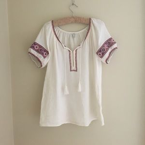 J Crew Embroidered Tunic XS