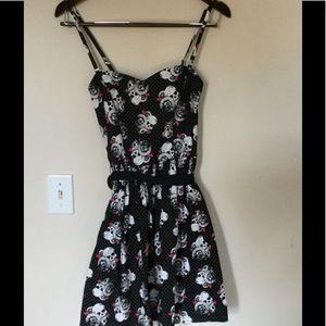 Women's Hot Topic sz S sassy spaghetti strap dress