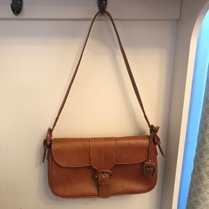 A beautiful tan/brown purse by Etienne Aigner