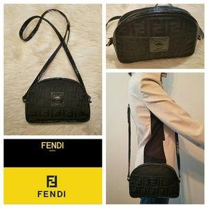 Vintage 1980s FENDI Zucca Monogram Cross Body Bag