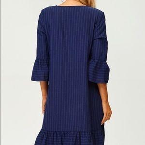 Bell sleeve Ruffle Dress