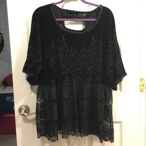 Free people lace and velvet