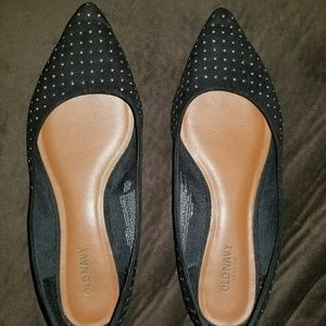 Old Navy Black Studded Flats
