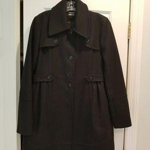 Ladies DKNY black peacoat
