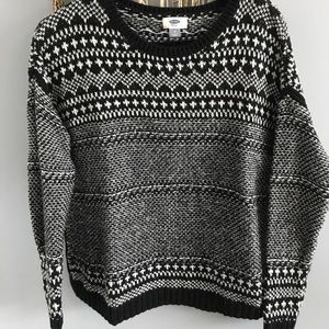 Old navy, black sweater, medium