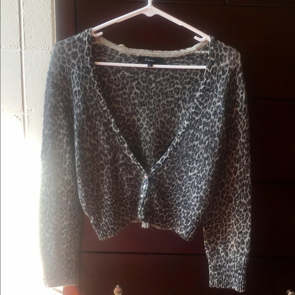 Express - Express leopard cardigan from Bella's closet on Poshmark