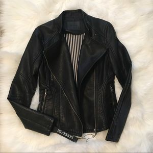 Blank NYC vegan leather jacket Xs