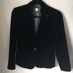 Beautiful black velvet J.Crew blazer jacket