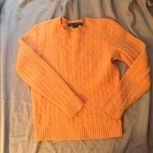 Ralph Lauren Sport 💯 % Lambs Wool Orange Sweater