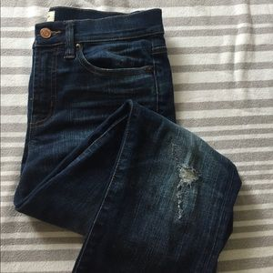 J. Crew toothpick jeans. Distressed 27