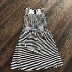 Merona Black and White striped dress