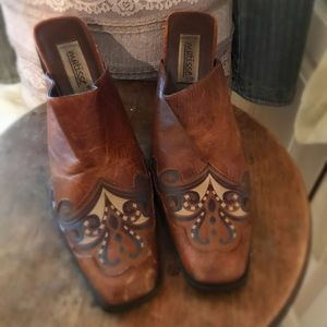Matisse High Heel Western Boho Slip on Shoes 8-1/2