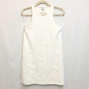 Zara Trafaluc White Jacquard Dress