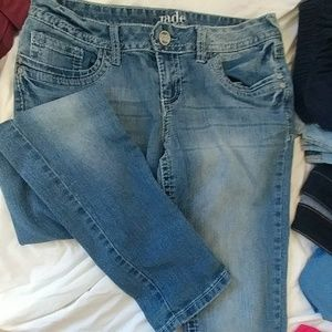 Straight leg beach bleach jeans