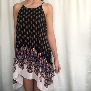 Anthropologie Boho Flowy Dress Size Large