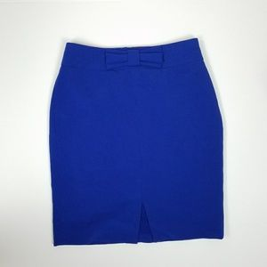 Banana Republic Blue Bow Skirt