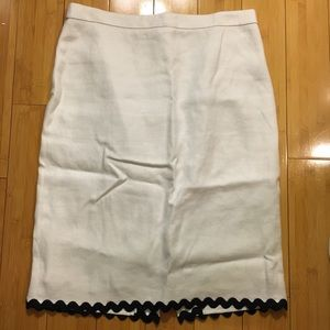 J.Crew - Linen Rickrack Pencil Skirt - Size 4