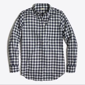 {J.Crew} Gingham Button-Down Shirt in Boy Fit