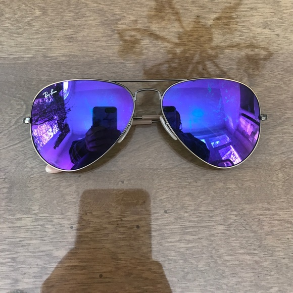 Ray-Ban Accessories - Purple mirrored ray bans