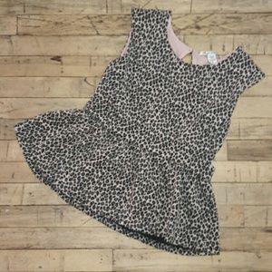 Darling leopard peplum top by American Rag!