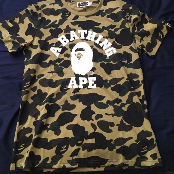 51475b07 A Bathing Ape Shirts   Authentic Bape Camo Shirt   Poshmark