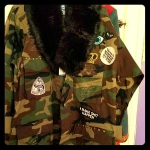 Jackets & Blazers - Custom Army fatigue jackets