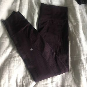 Lululemon thick maroon pants