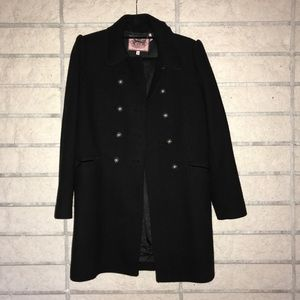 {juicy couture} wool double breasted pea coat