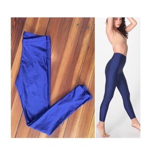 American Apparel   cobalt blue nylon leggings