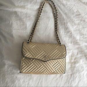 Rebecca Minkoff gold quilted shoulder bag
