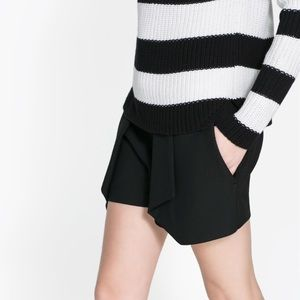Zara pleated shorts