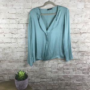 MNG mint Tiffany blouse