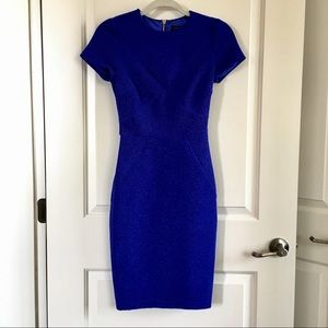 "Ted Baker Blue ""Nedeli"" Bodycon Dress"