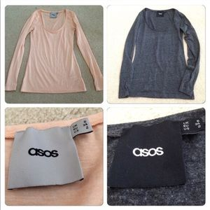 Two ASOS Long Sleeve Tees