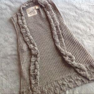 Anthro Angel of the North Slip Stitch Knit Vest