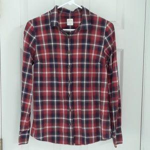 J. Crew Perfect Shirt - Russet Plaid