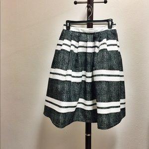 Black and white midi a-line skirt