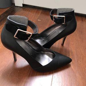 Calvin Klein single strap black heels