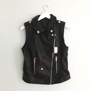 {blank nyc} evil ways vegan leather moto vest