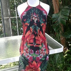 Ted Baker exotic sundress very sexy extra small