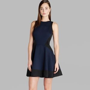 "Ted Baker Navy & Black ""Hearn"" Skater Dress"