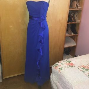 David's Bridal Royal Blue Dress