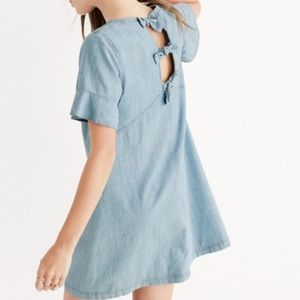 NWT Madewell chambray tie-back dress!