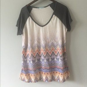 maurices baseball style tee size XL