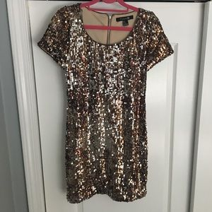 Silver/Gold Sequin Dress