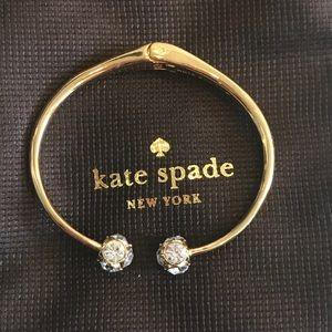 Kate Spade gold crystal Bangle
