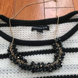 H&M Black and Gold Necklace