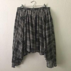 Asos Dip Hem Full Pleated Skirt