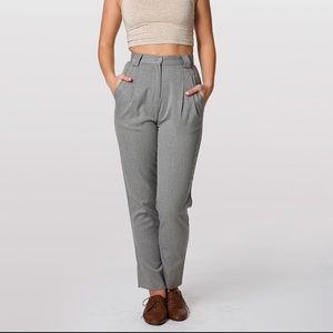 American Apparel high waisted twill pants. IN TAN.